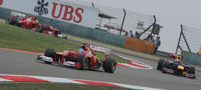 Los Ferrari en el GP de China