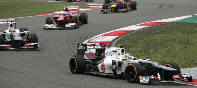 Los dos Sauber en el GP de China