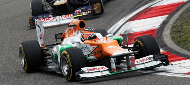 Un Force India en el GP de China