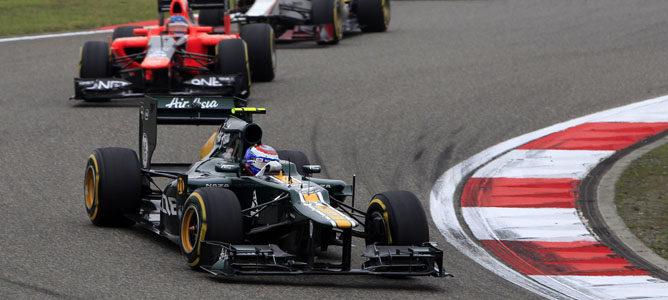 Un Caterham en el GP de China