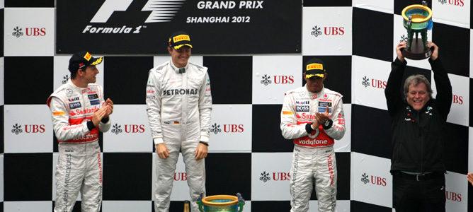 Podio del GP de China 2012