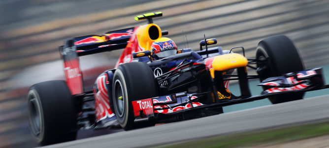 Mark Webber en el GP de China
