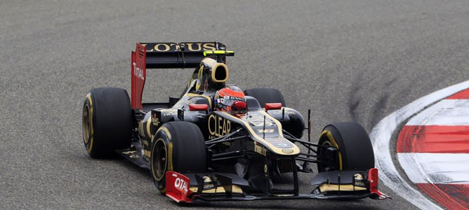 Romain Grosjean en el GP de China