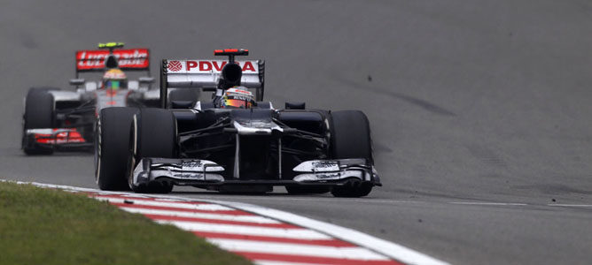 Pastor Maldonado en el GP de China