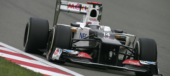 Kamui Kobayashi en el GP de China