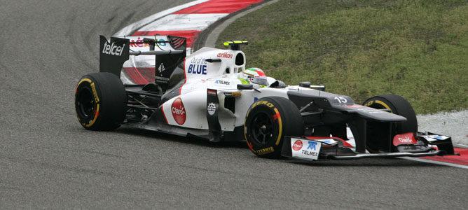 Sergio Pérez en el GP de China