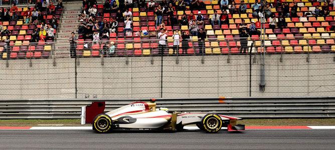 Pedro de la Rosa en el GP de China