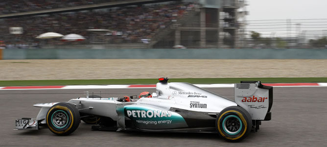 Michael Schumacher en el GP de China