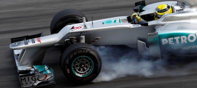 Nico Rosberg apura la frenada en la clasificación del GP de China 2012