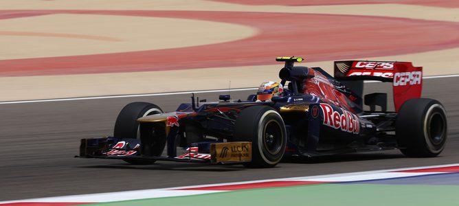 Jean-Eric Vergne rodando en el GP de Baréin
