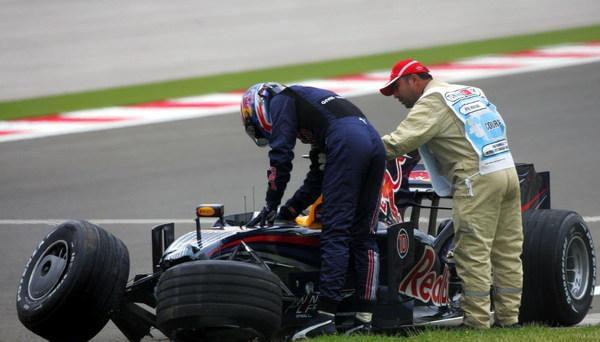 Webber admite su error
