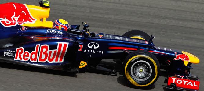 Mark Webber durante la clasificación del GP de Baréin 2012