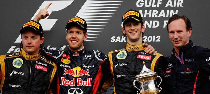 Sebastian Vettel gana el GP de Baréin 2012 y Kimi Räikkönen regresa al podio