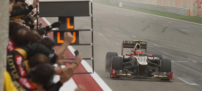 Grosjean, encantado con terminar en el podio