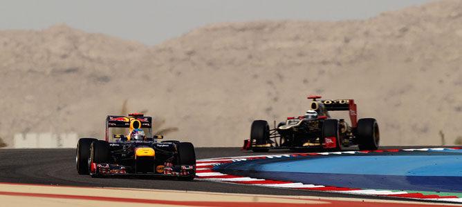 Un Red Bull en el circuito de Sakhir