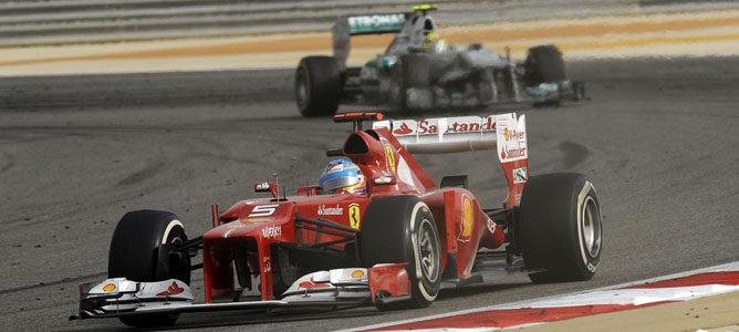 Un Ferrari en el circuito de Sakhir