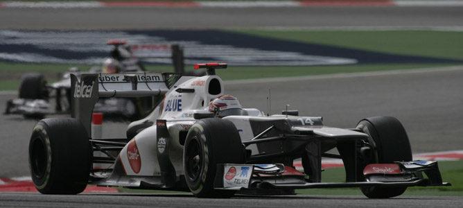 Un Sauber en el circuito de Sakhir