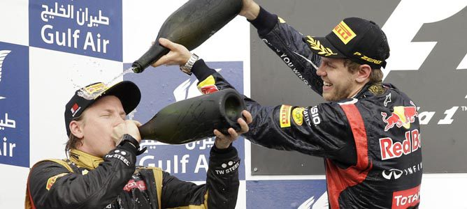 Kimi Räikkönen en el circuito de Sakhir