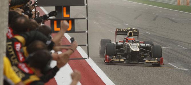 Romain Grosjean en el circuito de Sakhir