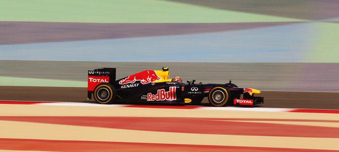 Mark Webber en el circuito de Sakhir