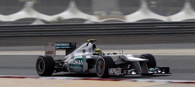 Nico Rosberg en el circuito de Sakhir