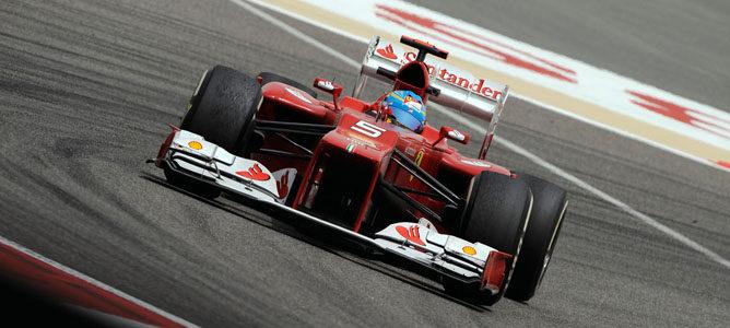 Fernando Alonso en el circuito de Sakhir
