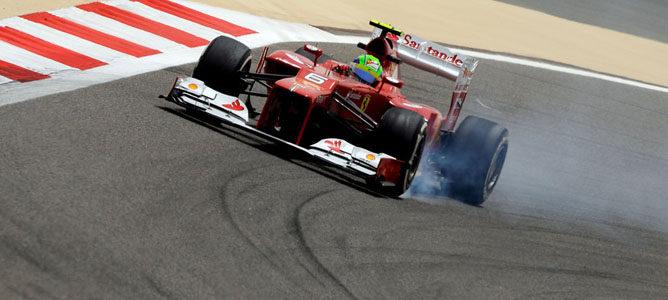 Felipe Massa en el circuito de Sakhir