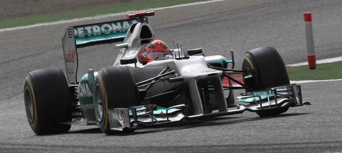 Michael Schumacher en el circuito de Sakhir