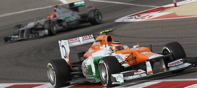 Nico Hulkenberg en el circuito de Sakhir