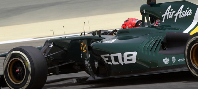 Heikki Kovalainen en el circuito de Sakhir