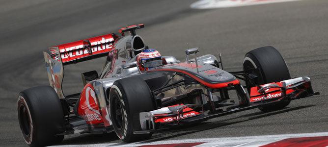 Jenson Button en el circuito de Sakhir
