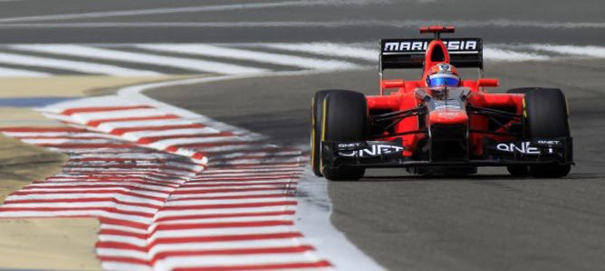 Timo Glock en el circuito de Sakhir