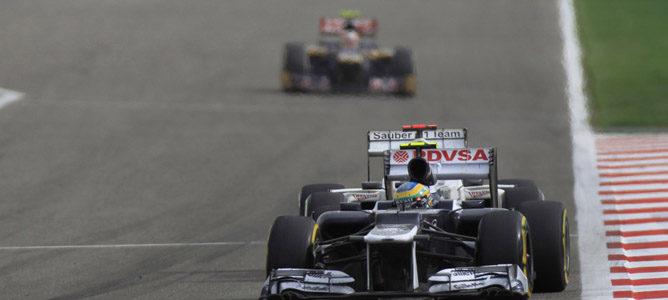Bruno Senna en el circuito de Sakhir