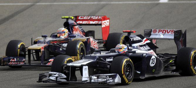 Pastor Maldonado en el circuito de Sakhir