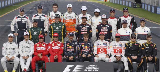 Los pilotos de Fórmula 1 2012