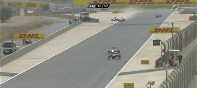 Rosberg y Hamilton en el GP de Baréin