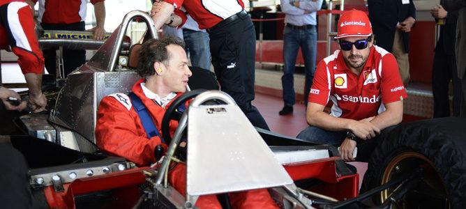 Jacques Villeneuve y Fernando Alonso en Fiorano
