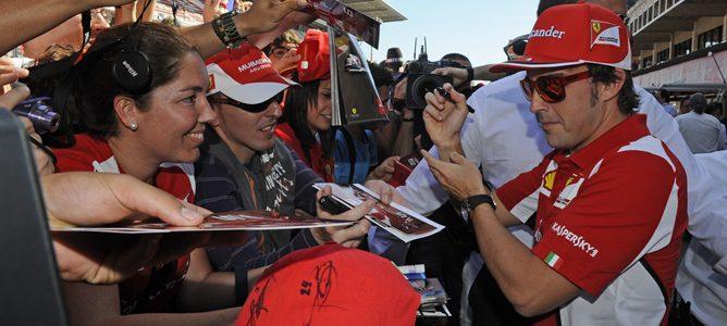 Fernando Alonso en el GP de España