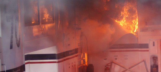 fuego en Williams