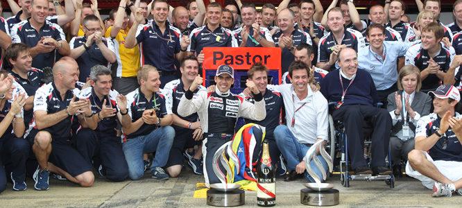 Williams celebra la victoria de Pastor Maldonado en el GP de España 2012