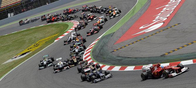 Salida del Gran Premio de España 2012