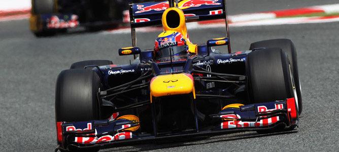 Un Red Bull en el asfalto de Montmeló