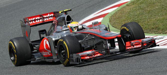 Lewis Hamilton en el GP de España