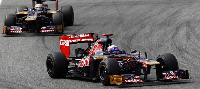 Ricciardo rueda en el asfalto de Montmeló