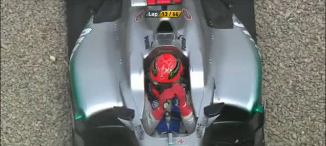 Schumacher tras el incidente