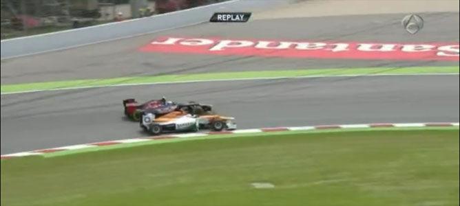Vergne y Di Resta en el GP de España