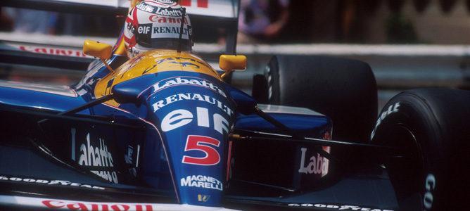Nigel Mansell, campeón del mundo en 1992