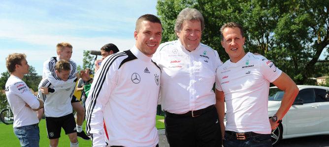 Acto con los jugadores de la selección alemana para Mercedes