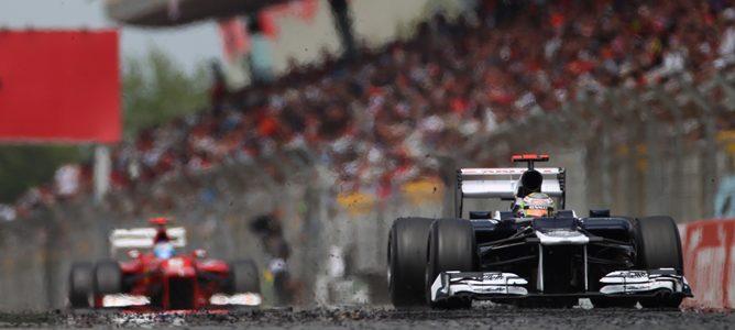 Pastor Maldonado en el GP de España 2012
