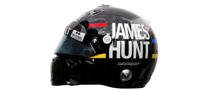 Vista lateral del casco de Kimi en Monaco 2012